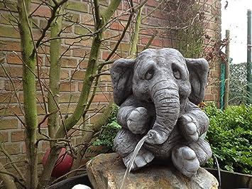Steinfiguren Garten wasserspeier elefant steinfigur garten deko gartenfiguren elefanten