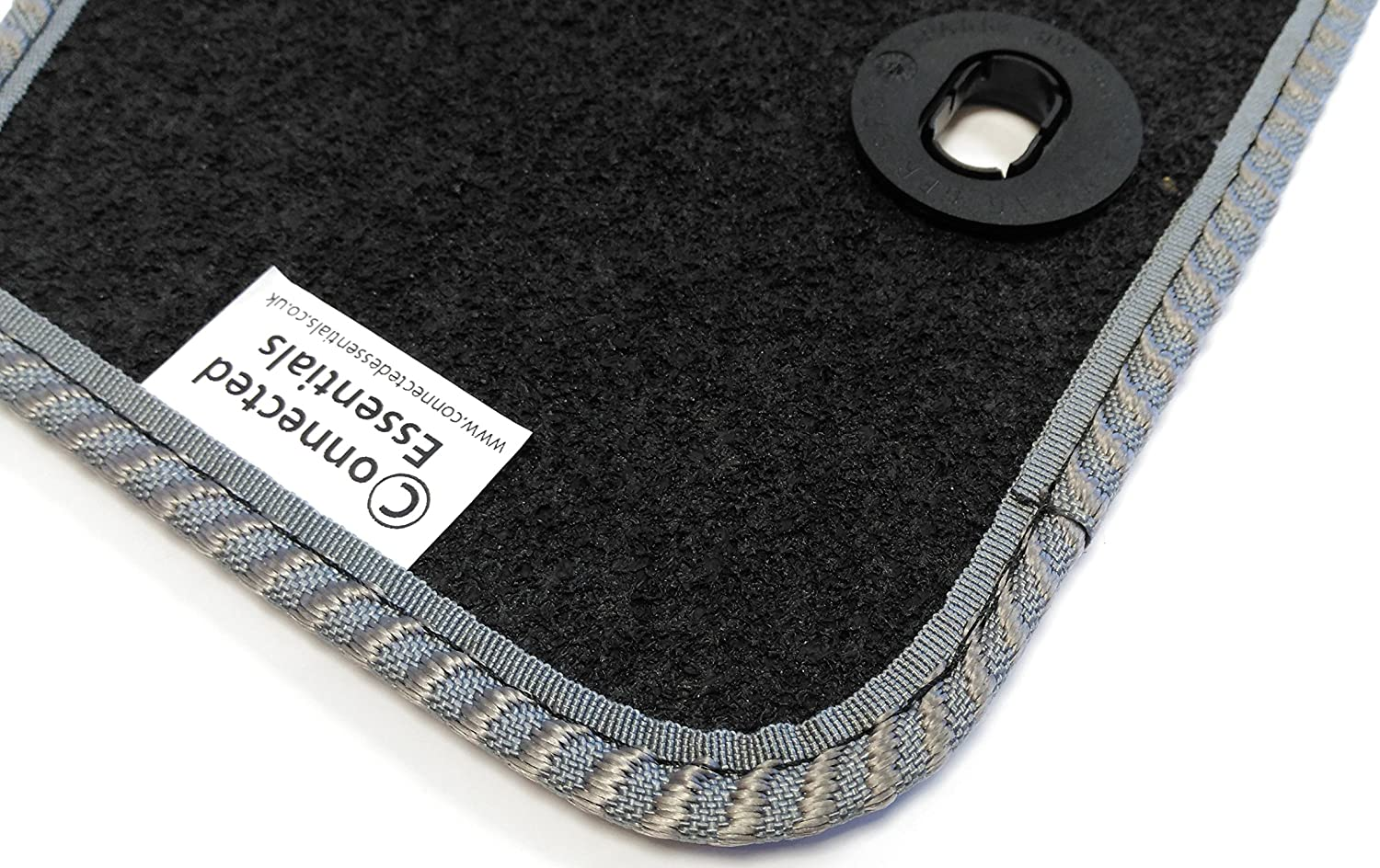 Connected Essentials 5033668 Grey with Red Trim Tailored Heavy Duty Custom Fit Car Mats Kia Picanto 2011