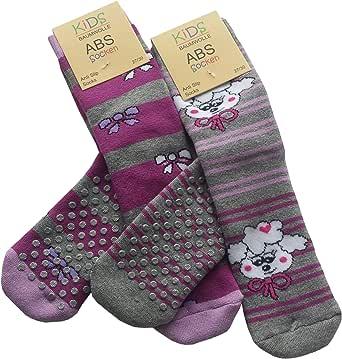 Yenita Pack de 4, Calcetines antideslizante para niñas