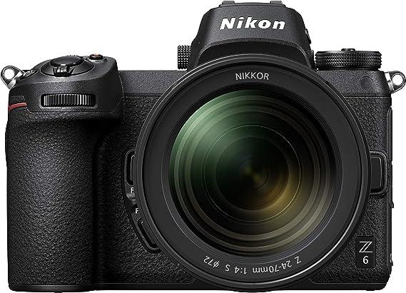 Amazon.com : Nikon Z6 FX-Format Mirrorless Camera Body w/ NIKKOR Z 24-70mm f/4 S : Electronics