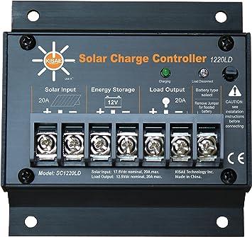 Amazon.com: KISAE Technology SC1220LD 20 Amp Solar Charge ... on