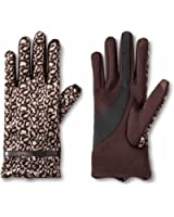 Impressions by Isotoner Women's SmarTouch Gloves One Size - Brown Leopard