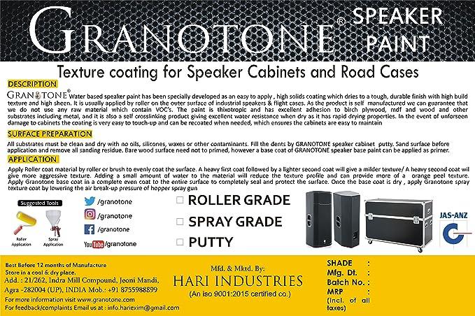 GRANOTONE Spray Grade Speaker Cabinet Texture Coating Paint Black