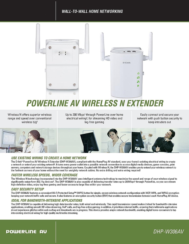 D Link Dhp 306av Systems Powerline Av Network Adapter House Wiring Computers Tablets