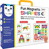 Play Panda Fun Magnetic Shapes (Junior): Type 2 with 58 Magnetic Shapes, 164 Pattern Book, Magnetic Board and Display Stand