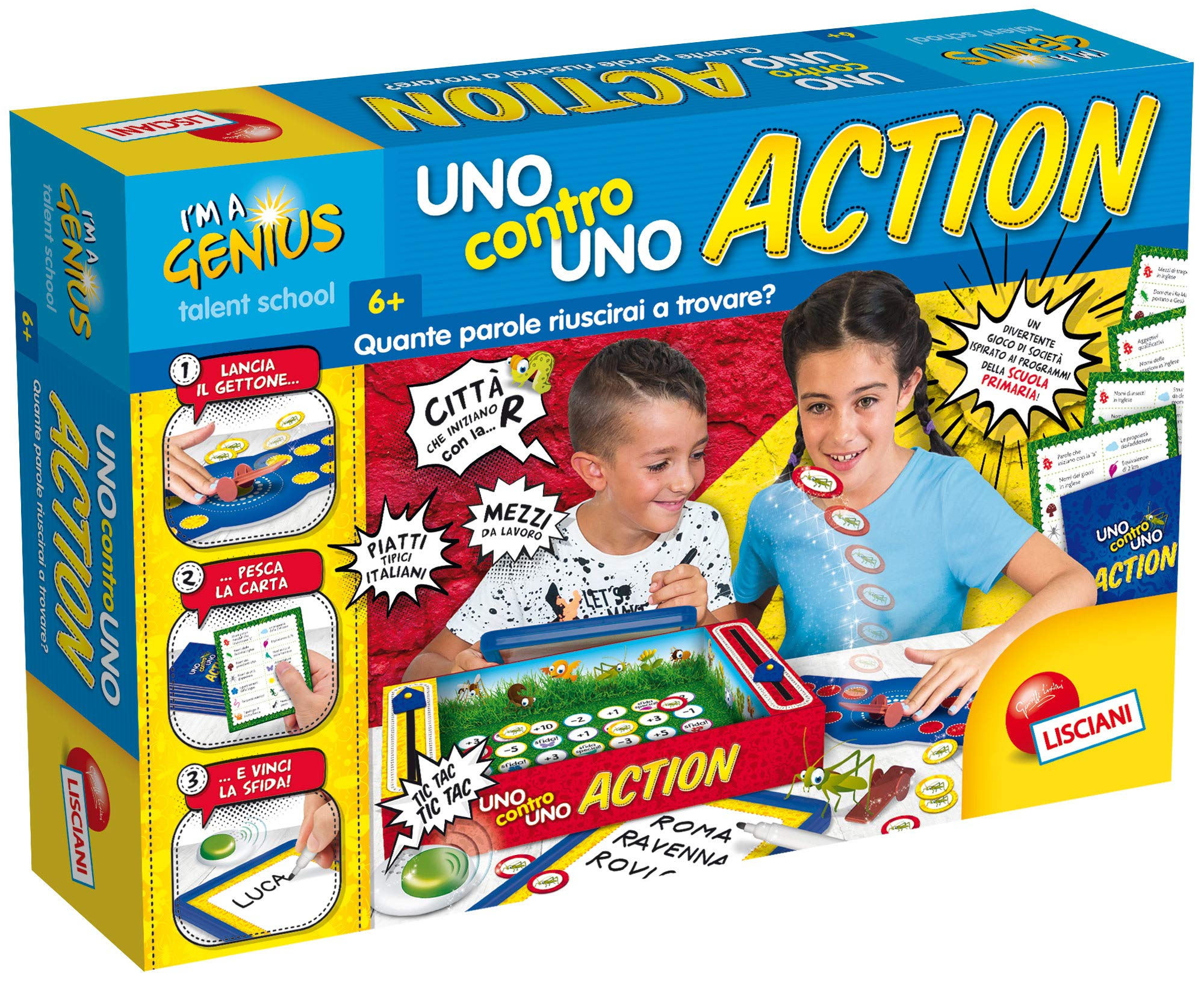 Lisciani Games-I'm A Genius One Against One Action, Multi-Colour, 68623