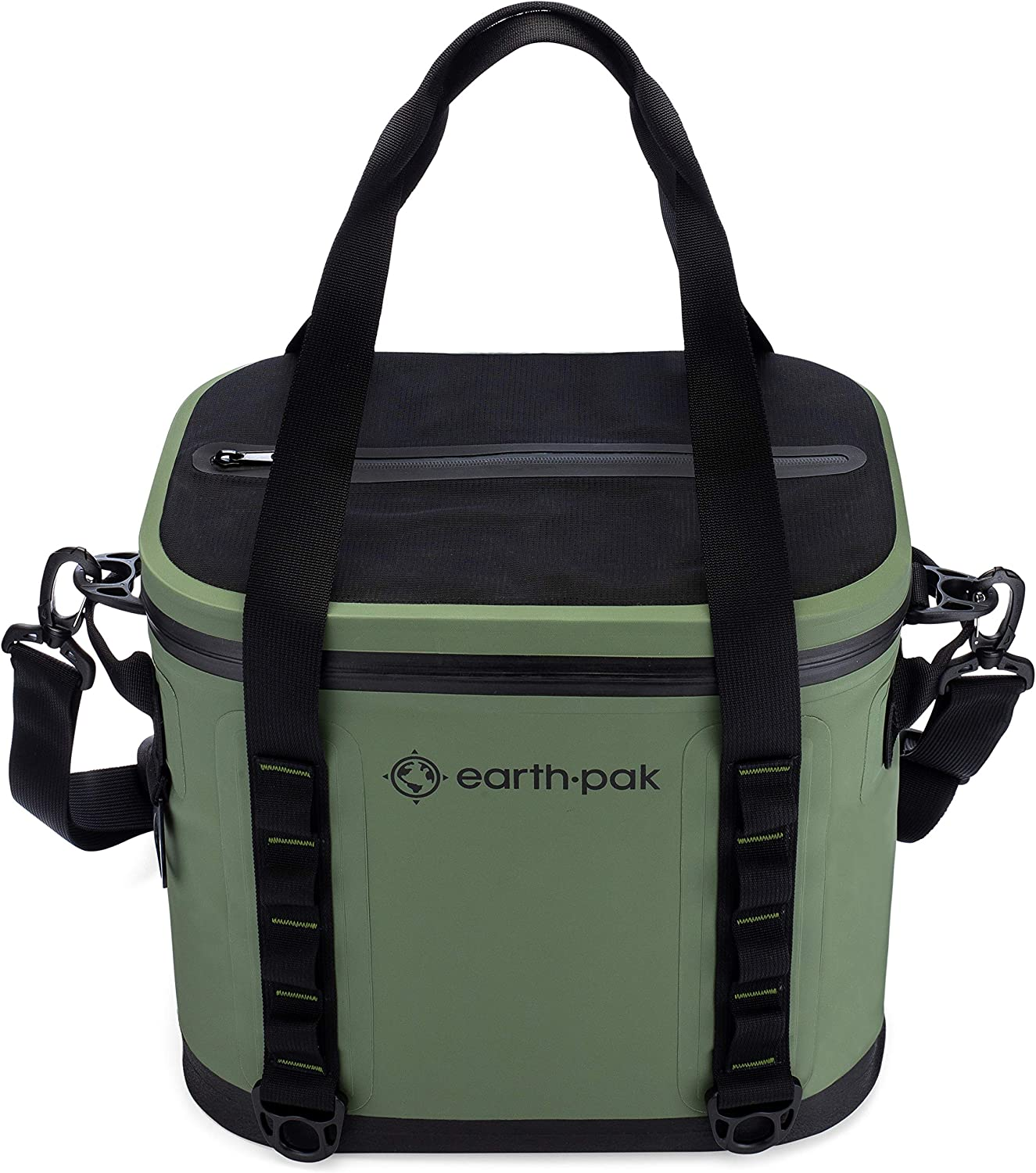Earth Pak Heavy Duty Waterproof 20-Can Soft Cooler Bag for Camping, Sports, Fishing, Kayaking, Beach Trips – Mesh Tote Insert Included