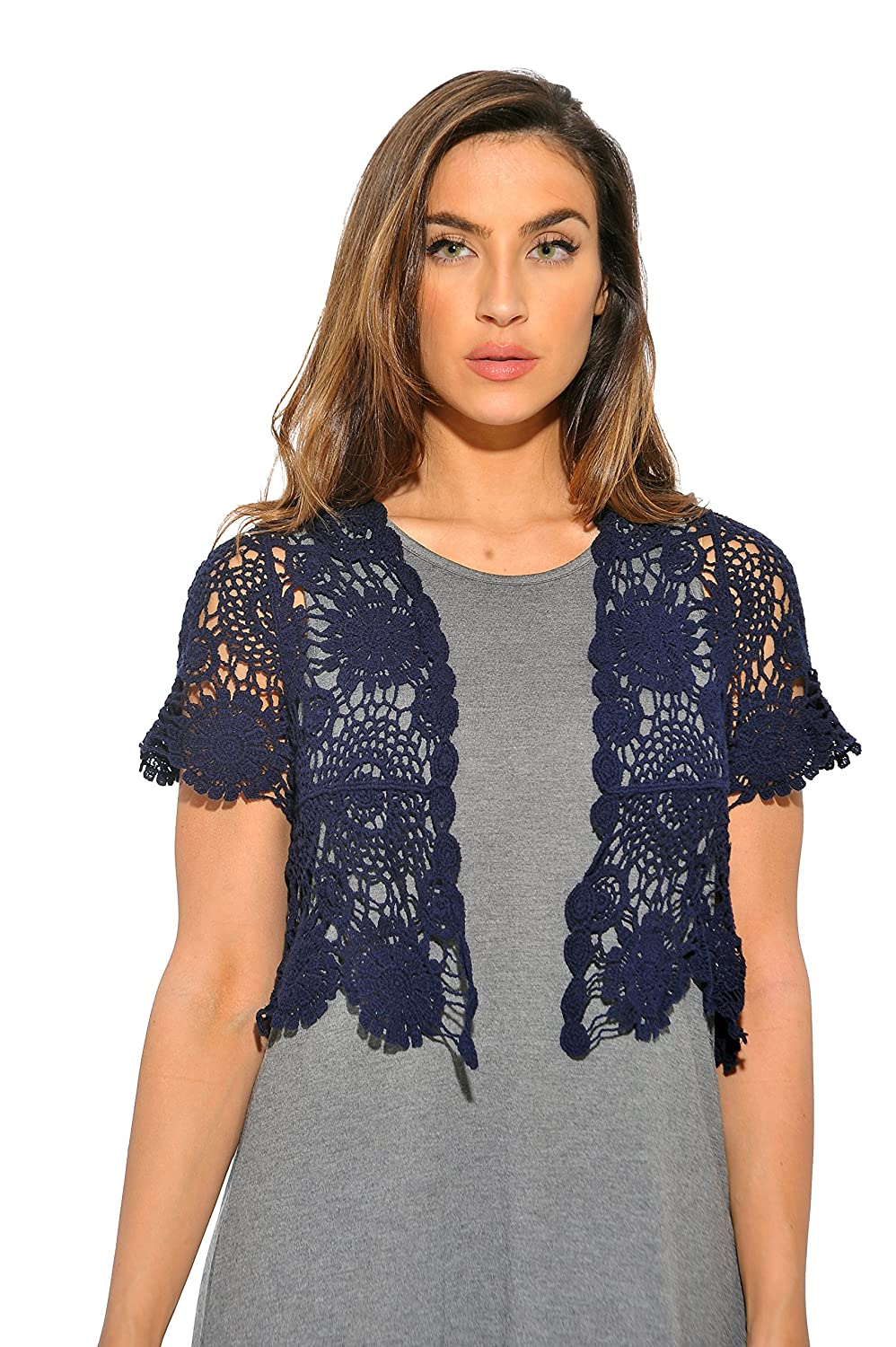 Just Love Bolero Shrug/Floral Crochet Women Cardigan