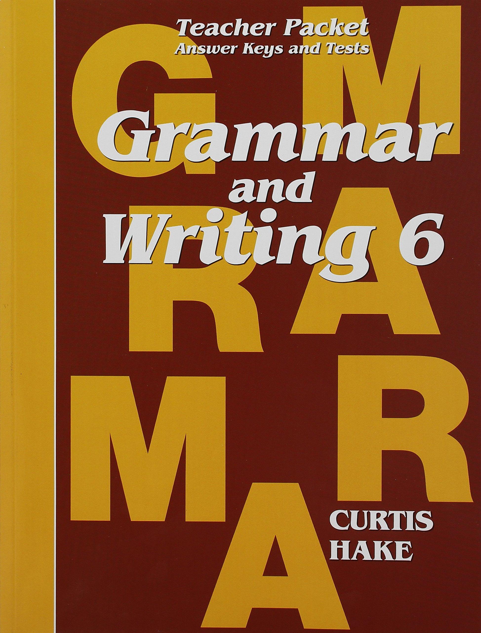 Read Online Grammar & Writing Teacher Packet Grade 6: pdf
