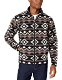 Amazon Essentials Men's Full-Zip Polar Fleece Jacket, Brown Geo, Small