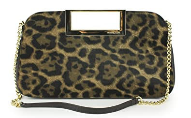d1938c0cd7ff Image Unavailable. Image not available for. Color: Michael Kors Leopard  Large Haircalf Clutch Berkley
