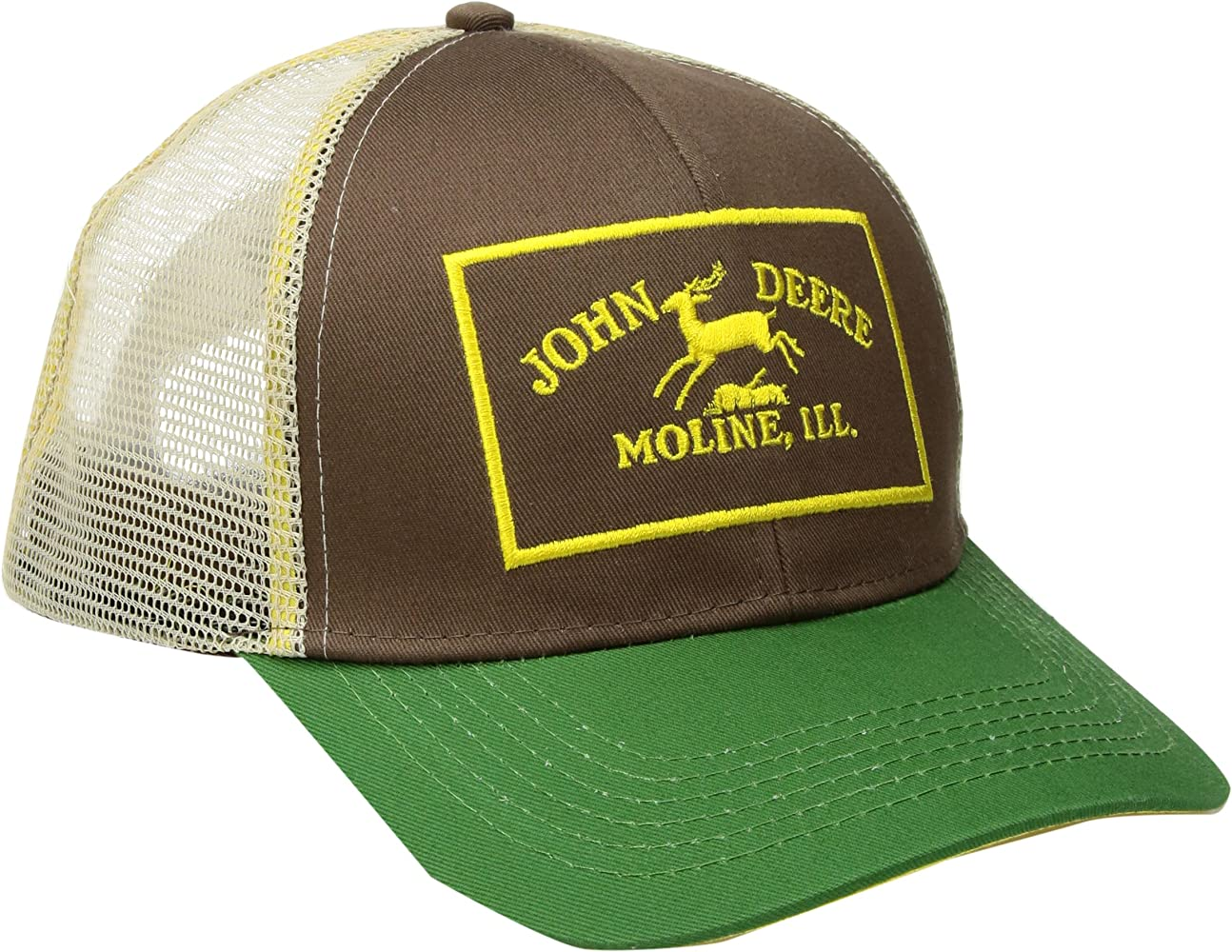 John Deere Mens Twill and Mesh Cap Embroidery: Amazon.es: Ropa y ...
