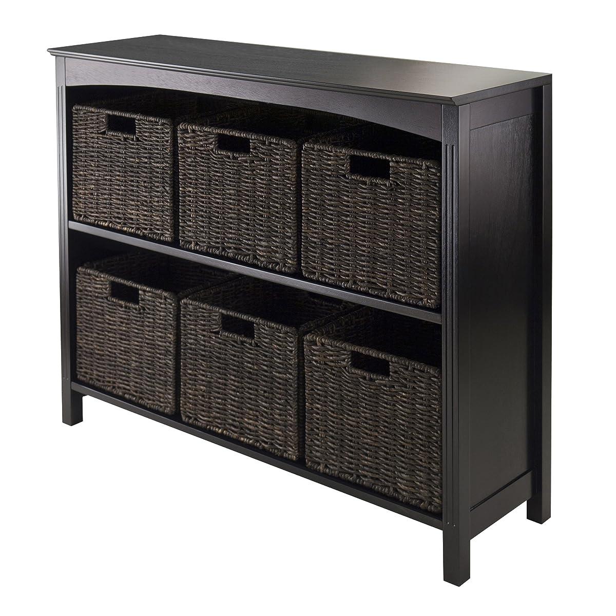 Winsome Terrace 7-Piece Storage Shelf/Bookcase, 37 by 11.8 by 30-Inch