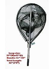 "Kufa Sports FC7052 Fishing Retractable Aluminium Landing Net with Rubberized Mesh, 20 x 27""/41-65""/22"""