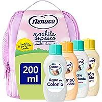 Nenuco Pack Regalo Bebé Mochila de Paseo Rosa 4 x 200ml con Colonia, Jabón, Champú y Leche Hidratante