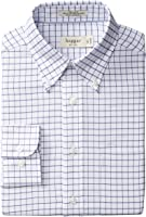 Haggar Men's Regular-Fit Checkered Oxford Button-Front Shirt