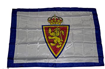 Real Zaragoza Badzar Bandera, Azul/Blanco, Talla Única: Amazon.es: Deportes y aire libre