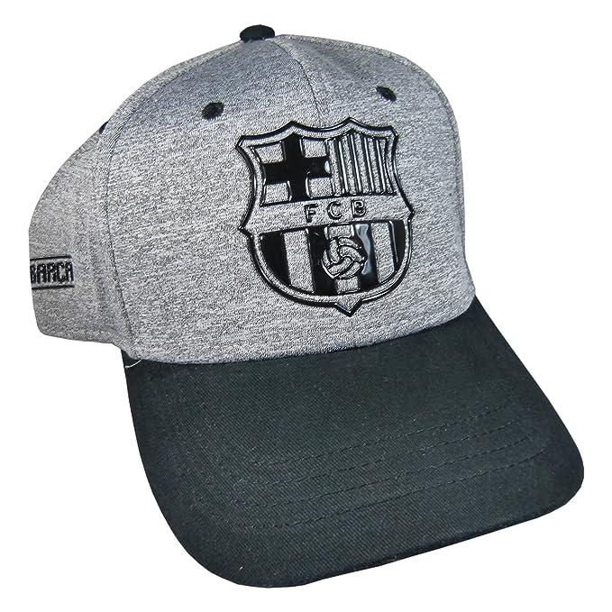 Gorra Oficial FC BARCELONA - Gris Negro - Tallaje Adulto - Ajustable   Amazon.es  Ropa y accesorios 009005390c7