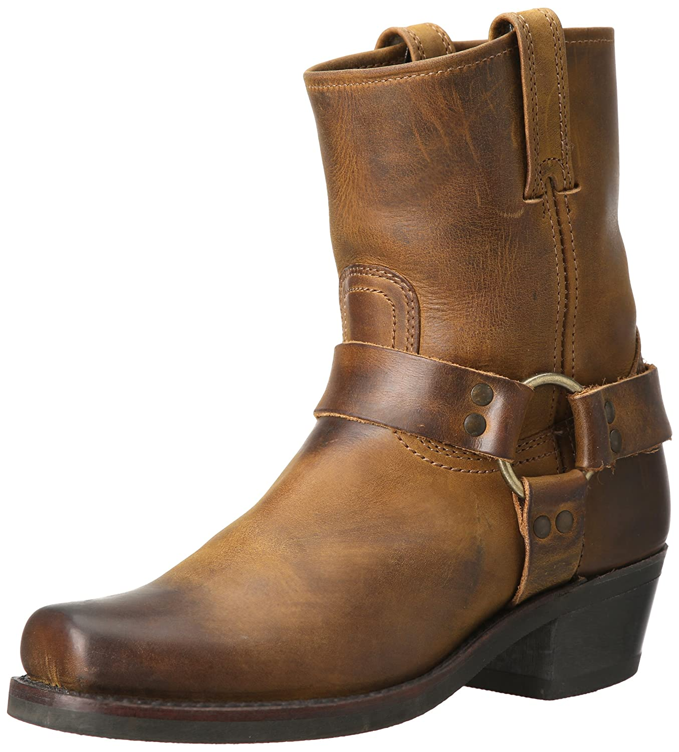 FRYE Women's Harness 8R Boot B004HXZMI6 7 B(M) US|Dark Brown-77455