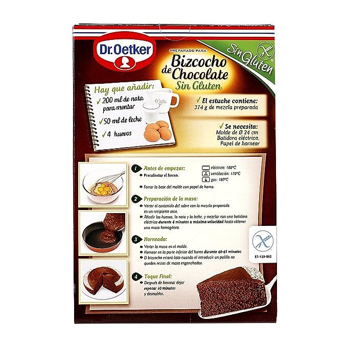 Bizcocho de Chocolate Sin Gluten Dr. Oetker: Amazon.es ...