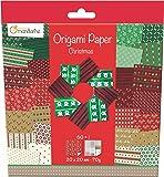 Decopatch - 52508O - Avenue Mandarine - Origami Paper Christmas - 20 x 20 cm - 60 Feuilles - 70 g