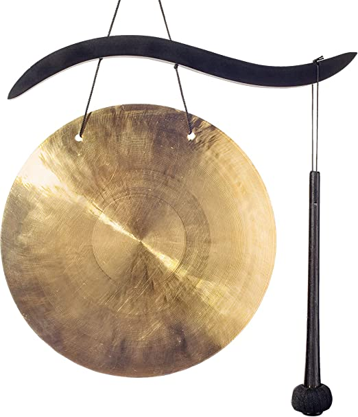 Woodstock Chimes HG The Original Guaranteed Musically Tuned Chime Healing Gong Trio Black//Bronze