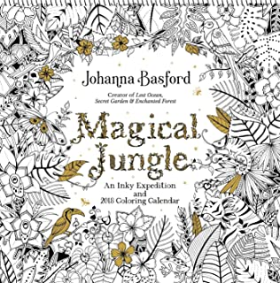 Magical Jungle 2018 Wall Calendar An Inky Expedition And Coloring