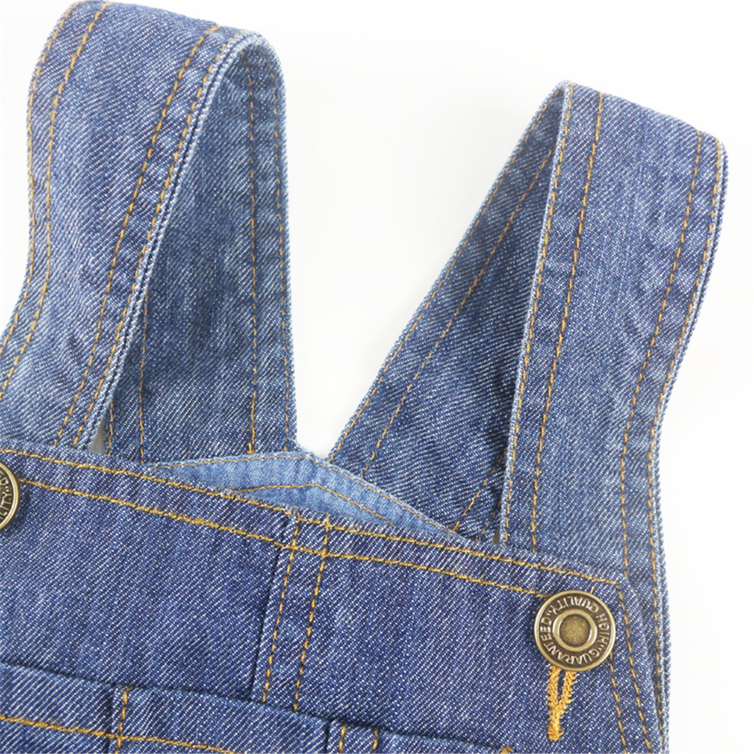 Hoared Denim Overalls Solid Loose Spring Summer Fashion Kids Trousers Overalls Casual Pants