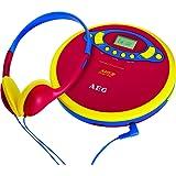 AEG CDP 4228 Kids Line Portable CD player Blue,Red,Yellow - CD players (LCD, 3.5 mm, AA, Blue, Red, Yellow)