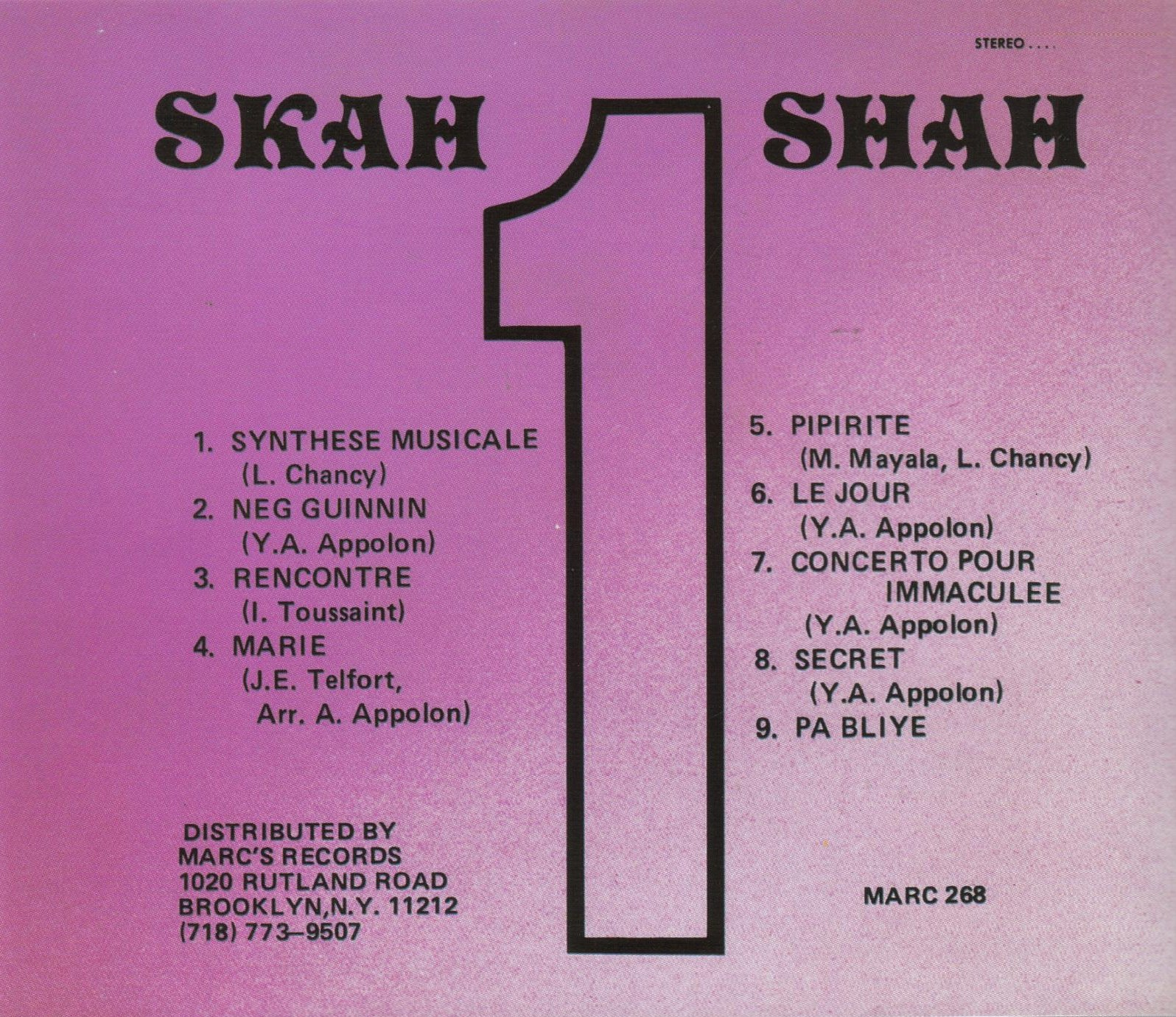 Skah-Shah #1 by Marc Records