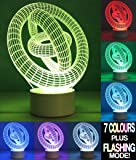 Optical Illusion 3D Lamp 7 Colour Changing GYRO