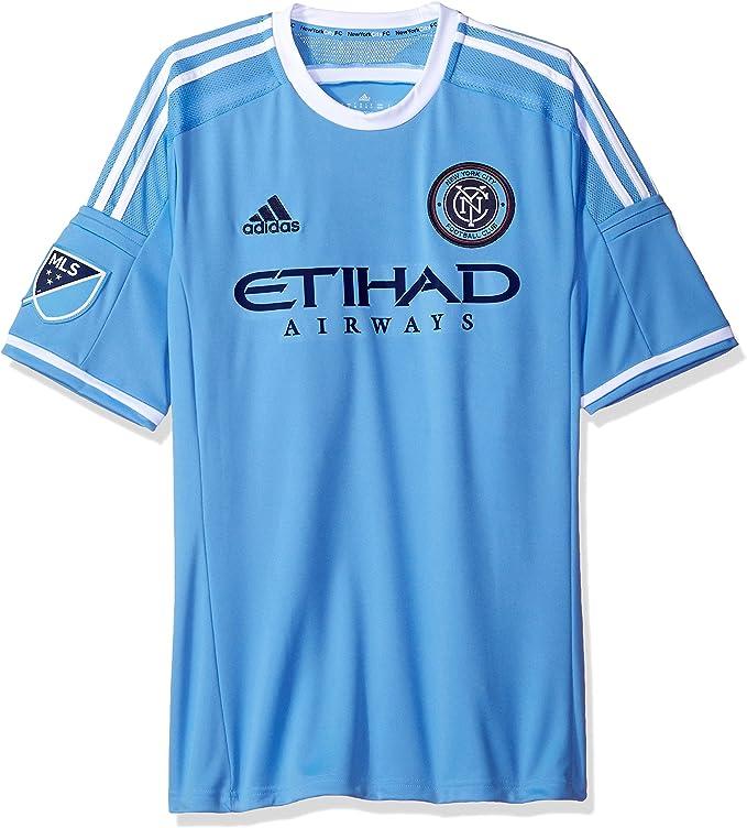 adidas New York City FC MLS Performance Replica - Camiseta de manga corta, color azul claro: Amazon.es: Deportes y aire libre