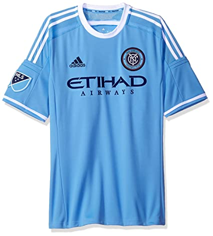 quality design 52968 73819 MLS New York City FC Mens Replica Short Sleeve Team Jersey, Blue, Small