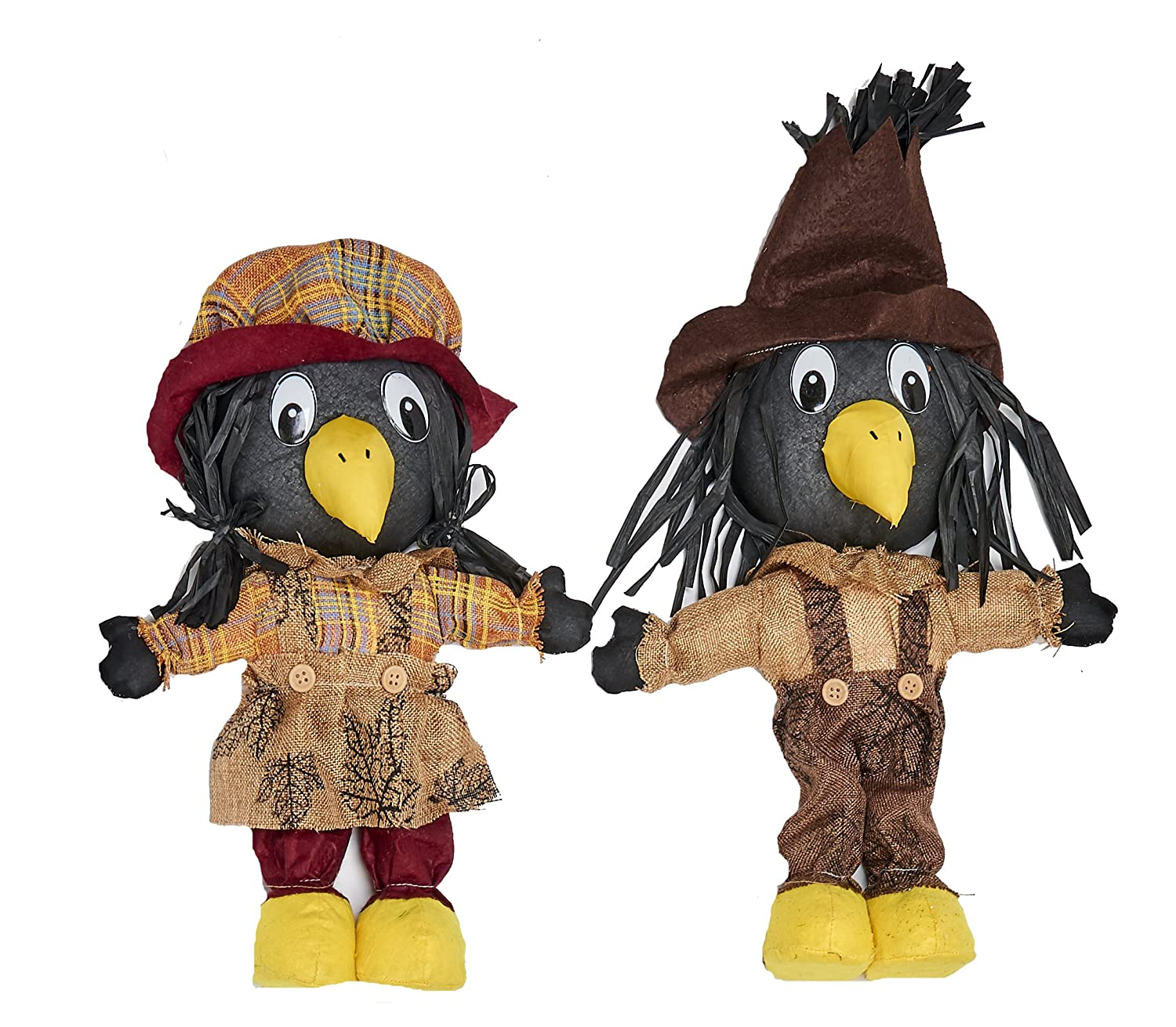 WORTH IMPORTS 2252 Standing Crow Home Décor, 16, Set of 2 16