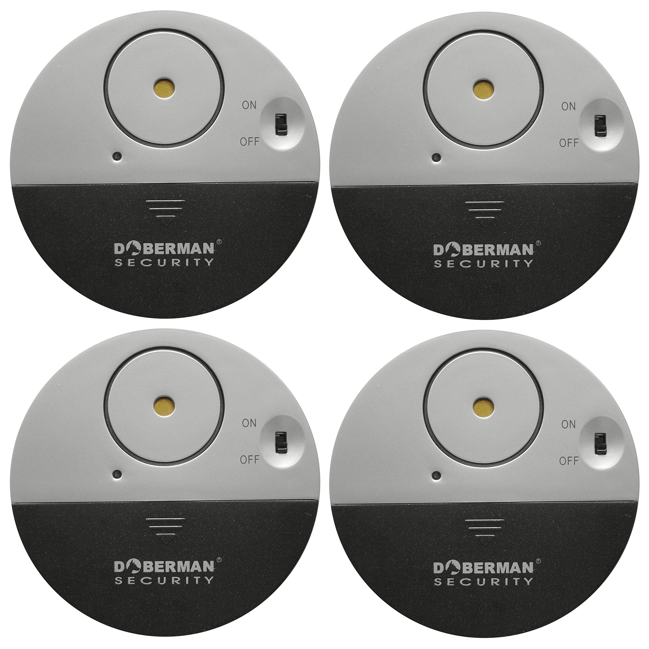 Doberman Security SE-0106-4PK Ultra-Slim Window Alarm (4 Pack) by Doberman Security
