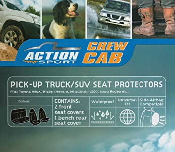 Exceptional Action Sport Crew 4x4 Cab Seat Protectors