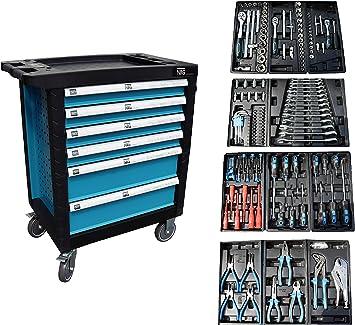 Carro de herramientas para taller con220 piezas: Amazon.es: Bricolaje y herramientas