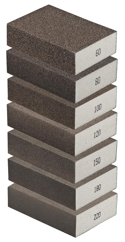 adatta per diversi materiali Spugna abrasiva fine levigatrice manuale fai-da-te set da 20 grana 180 blocco abrasivo di alta qualit/à