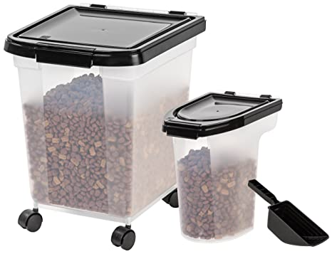 Pet Supplies IRIS Airtight Food Storage Combo with Scoops Food