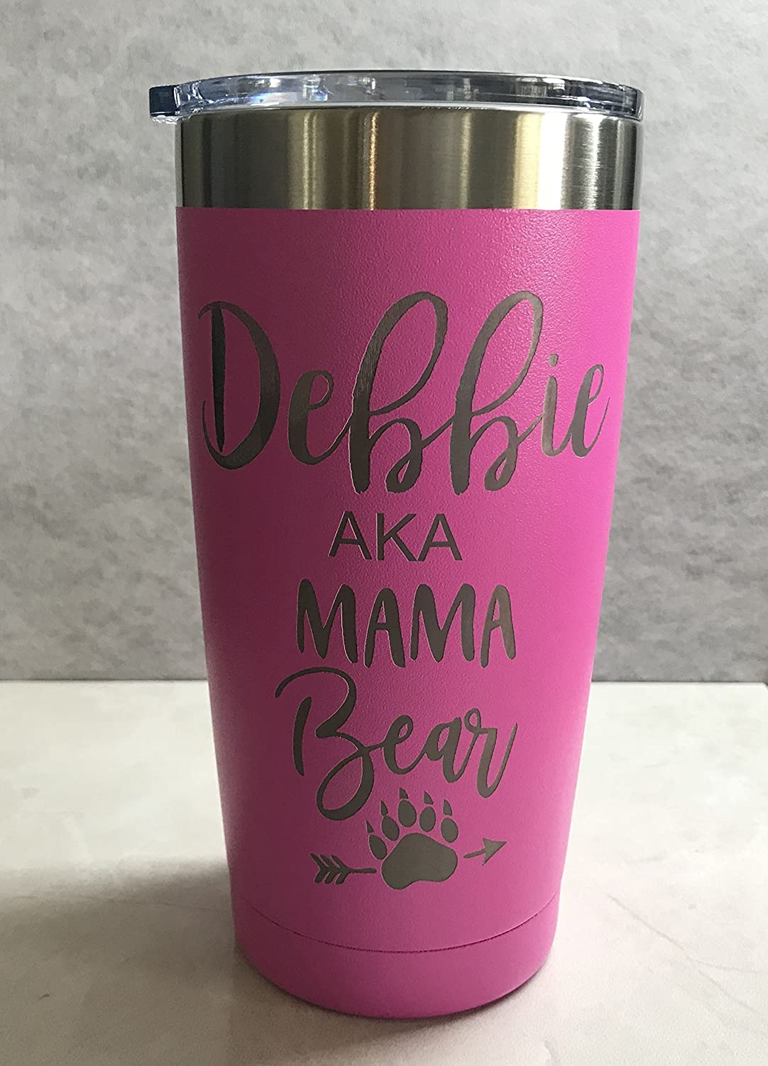 Mama Bear Personalized Engraved Insulated Stainless Steel 20 oz Tumbler