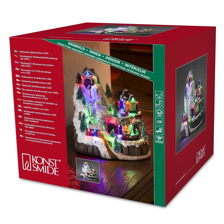 Konstsmide Weihnachtsbeleuchtung.Konstsmide 3493 Led Scene Ski Lift Station For Indoor Use Ip20 3x