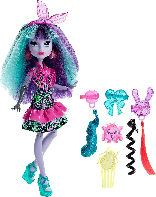 Monster High Batman Twyla, Electro-Peinados (Mattel DVH71)