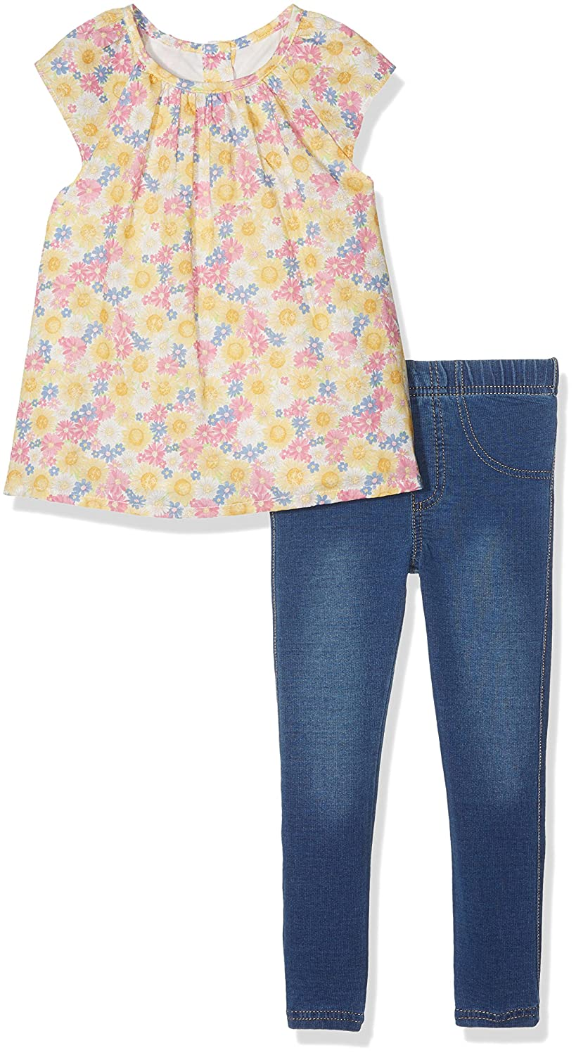 Floral Blouse and Jeggings Set Yellow Mothercare 915186