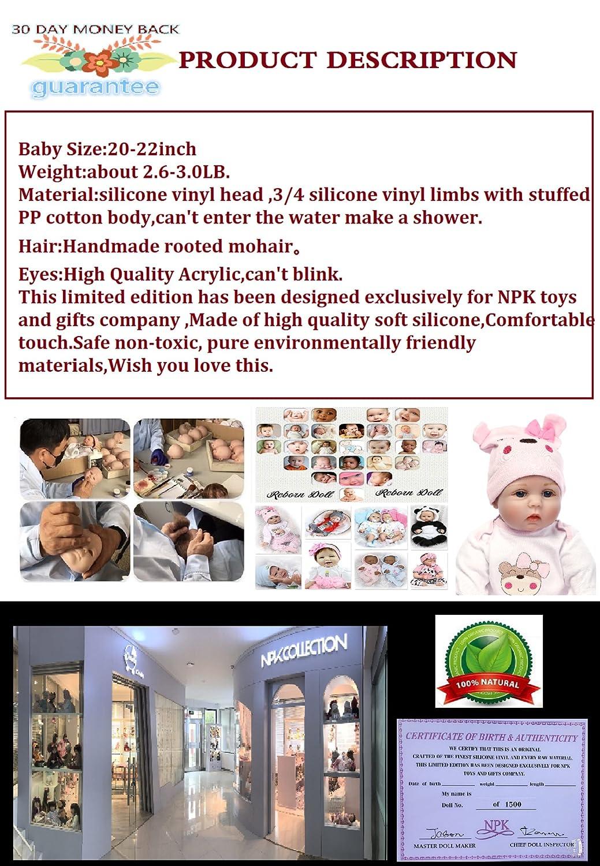 Buy Reborn Baby Doll Girl Realistic Silicone Vinyl Pink