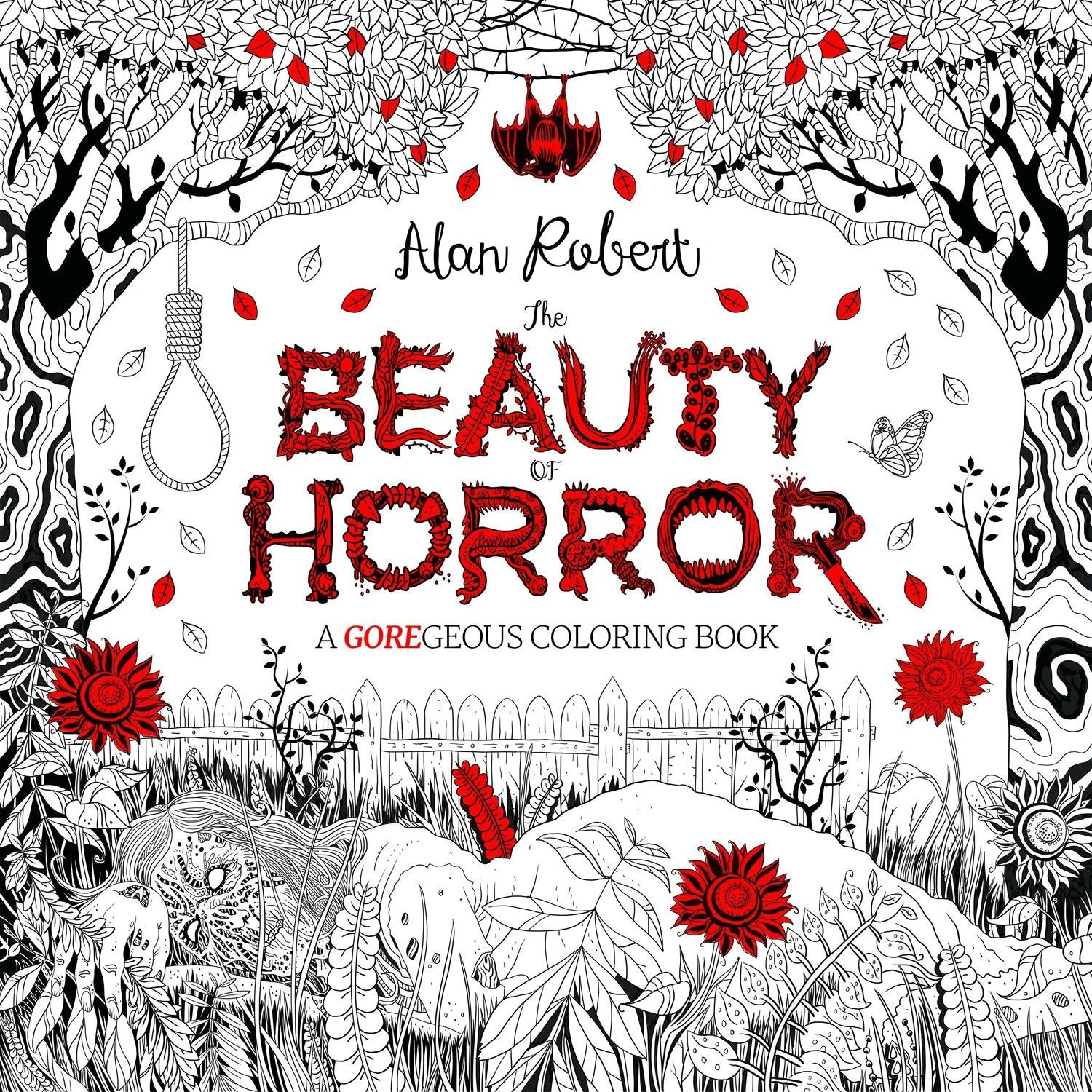 Amazon Com The Beauty Of Horror 1 A Goregeous Coloring Book