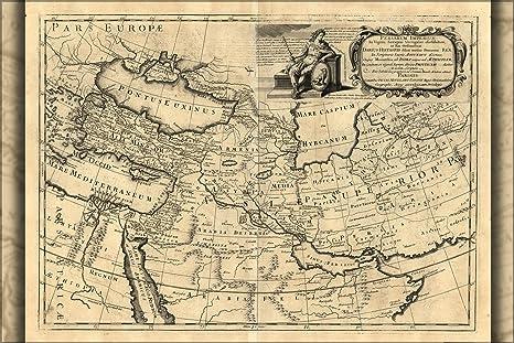 Amazon.com: 24 x 36 Póster; Mapa de Persa Empire 1721 en ...