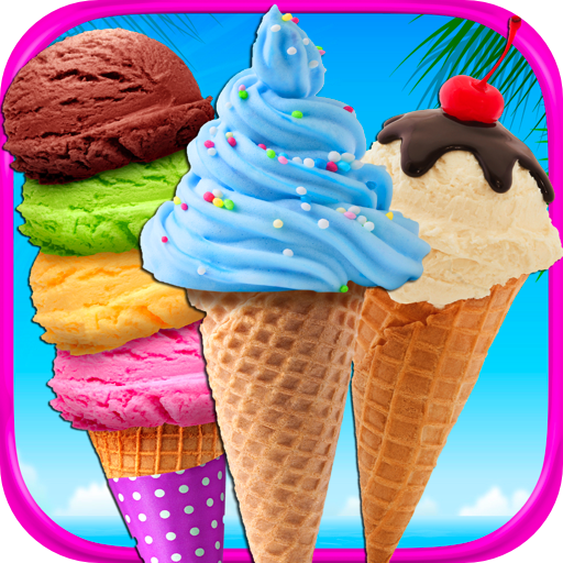 Mega Ice Cream, Frozen Soft Serve & Sundae Maker Games - Kids Ice Cream Truck Desserts FREE (Plastic Scoop For Register compare prices)