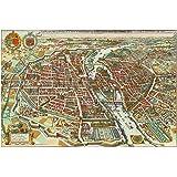 MAP ANTIQUE 1662 BLAEU KINGDOM NORWAY HISTORIC LARGE REPRO POSTER PRINT PAM0158