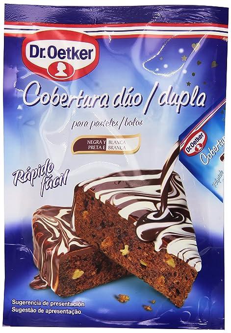 Dr. Oetker - Cubertura dúo - Negra y blanca - 100 g: Amazon.es: Alimentación y bebidas
