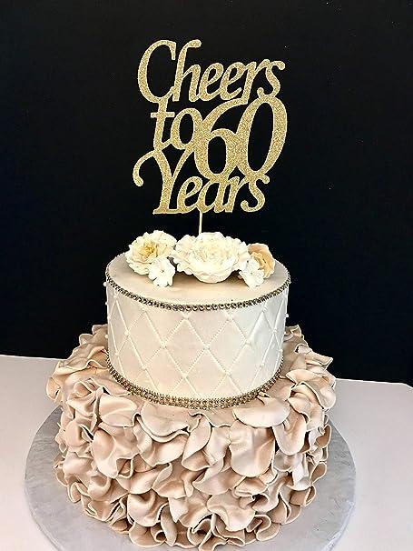 All Number Cheers To 60 Ans Cheer Decoration De Gateau D Anniversaire De Mariage Pour Couple Amazon Fr Cuisine Maison